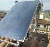 Placa solar Agua